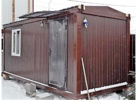 Блок контейнер  отделка лиственница