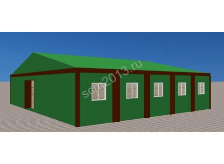 Общежитие модуль из 10 блоков