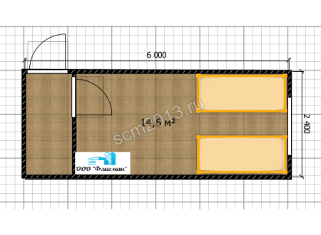 Блок-контейнер дачный вагонка