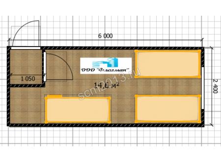 Блок-контейнер для 6 строителей
