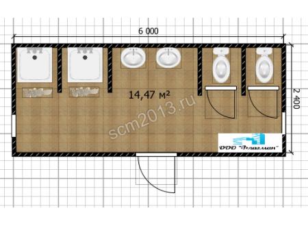 Комбинированный сантехнический модуль