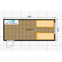 Блок-контейнер жилой Эконом