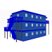 Модульное общежитие из 15 блоков