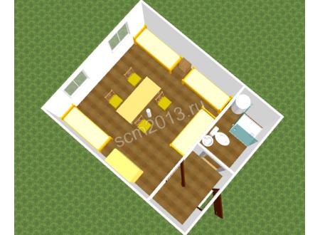 Модуль из сэндвич панелей