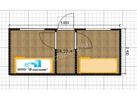 Блок-контейнер спальня для ИТР