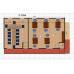 Административное хозяйственное здание из 10 блоков