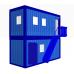 Раздевалка двухэтажная из сэндвич панелей из двух блок контейнеров