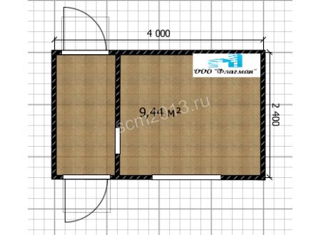 КПП с проходной и комнатой охранника